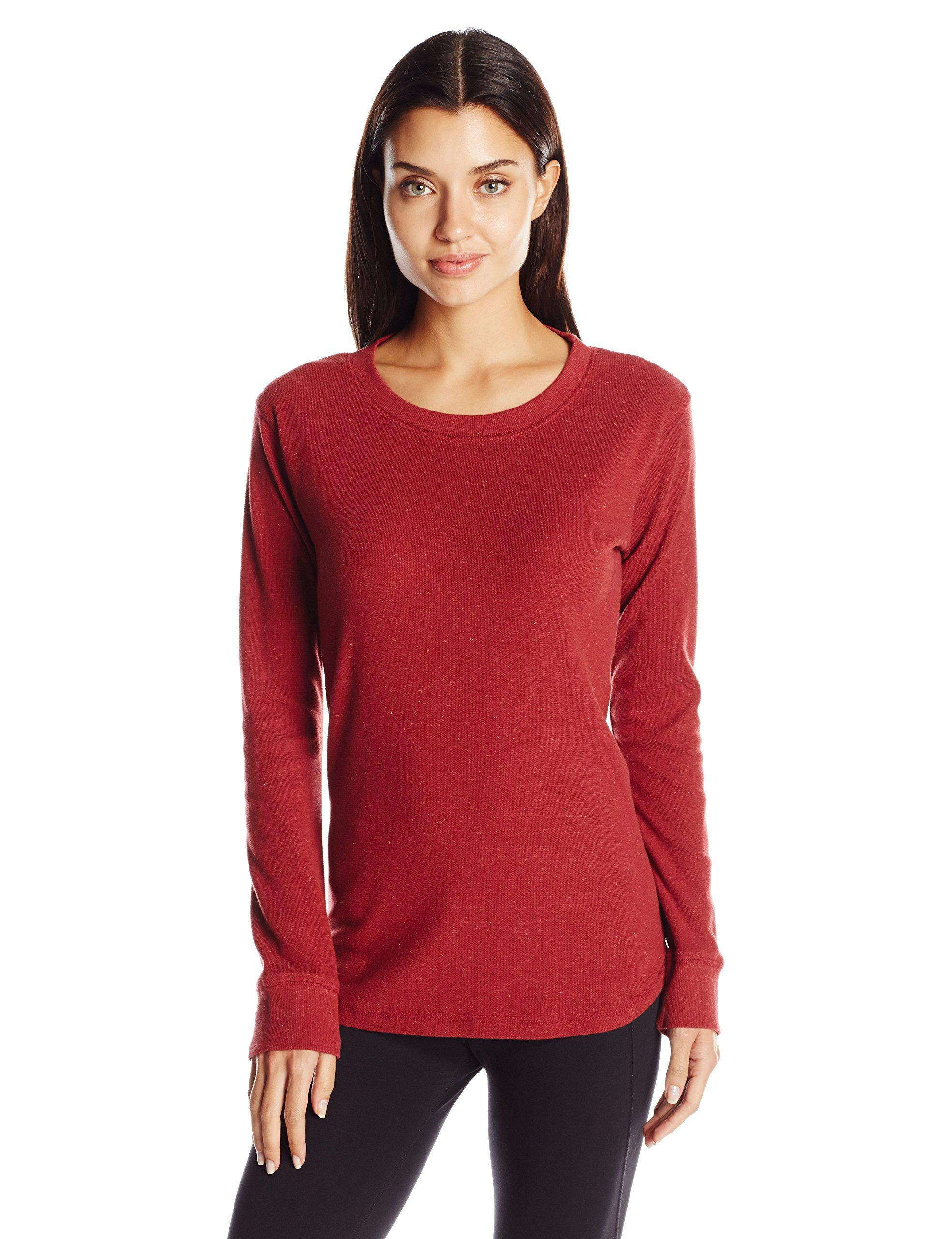 Kavu women 39 s juno sweater brick large semi fitted long for Crew neck sweater with collared shirt