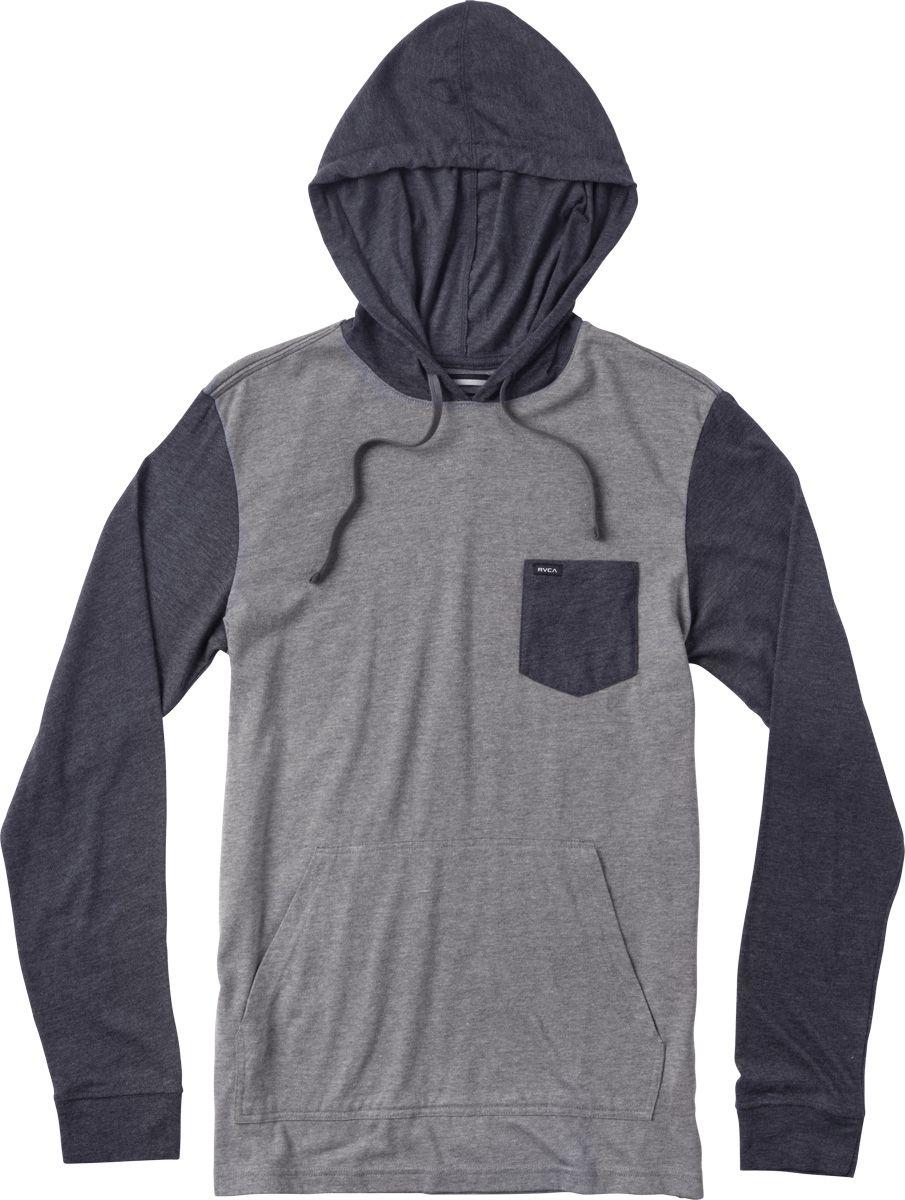 The RVCA Set Up Hood is a regular fit, long sleeve jersey