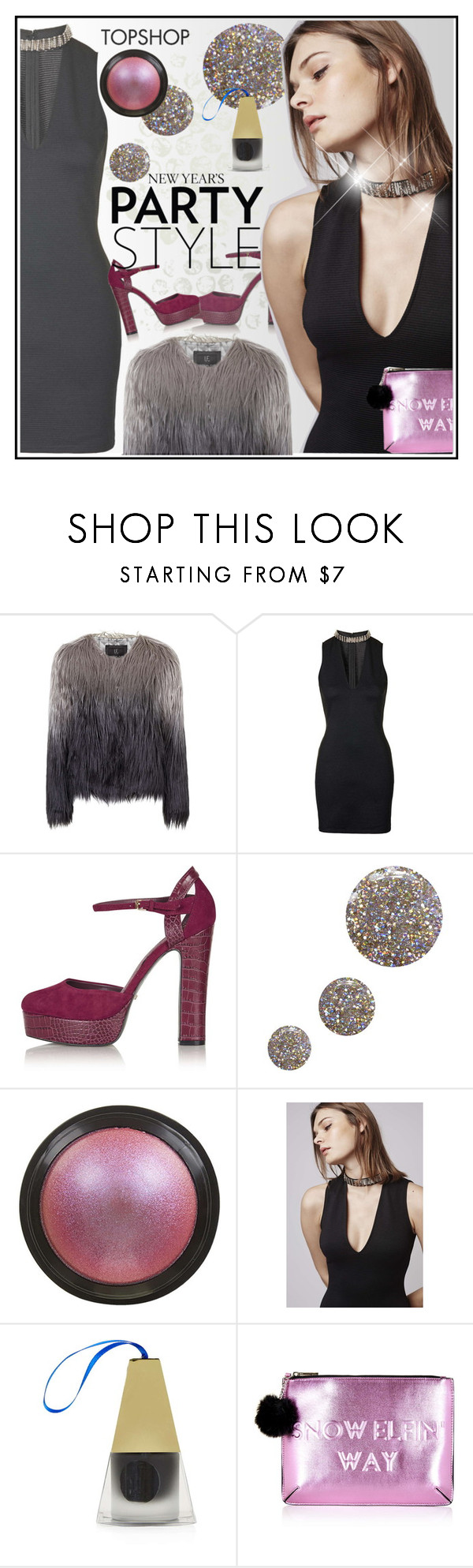 """""""Untitled #2747"""" by ansev ❤ liked on Polyvore featuring Topshop and HolidayParty"""