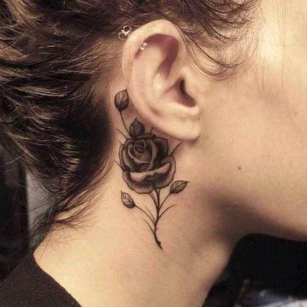 Small Rose Neck Tattoo Ideas Tattoo Designs Rose Neck Tattoo Flower Neck Tattoo Neck Tattoo