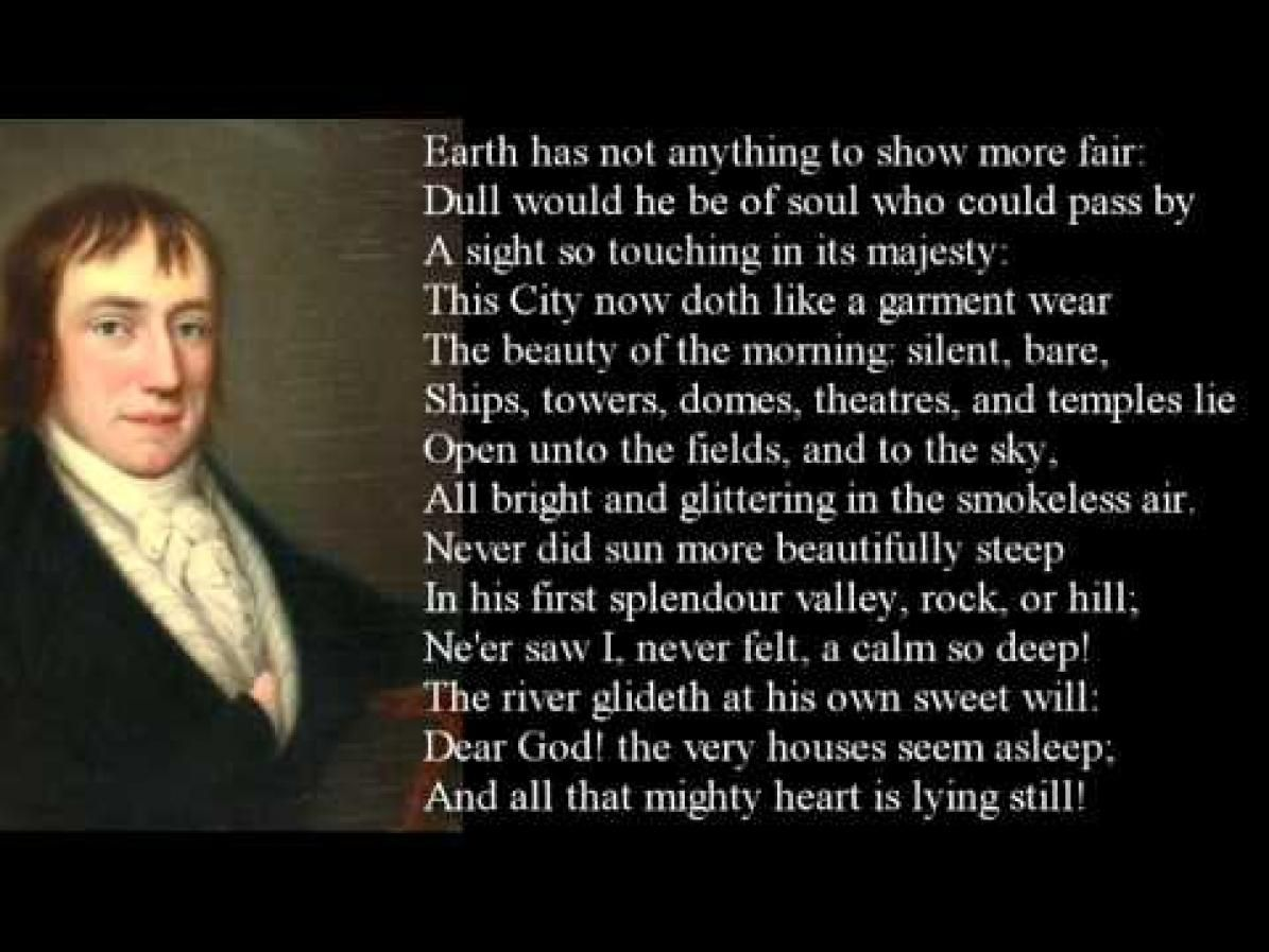 summary of the poem upon westminster bridge by william wordsworth
