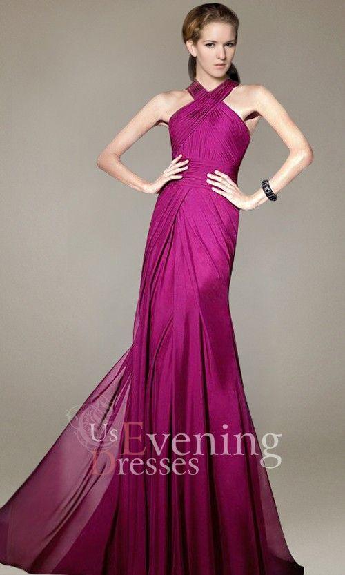 Halter Red A-line Chiffon Evening Dress...beautiful! | fashion ...