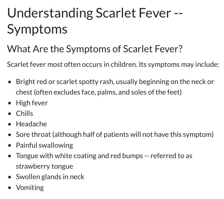 number 1 on my list!! i had scarlet fever this weekend i just got, Human Body