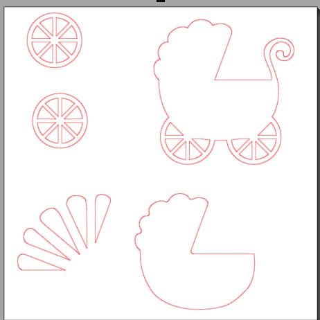 Крутые, шаблон коляска для открытки