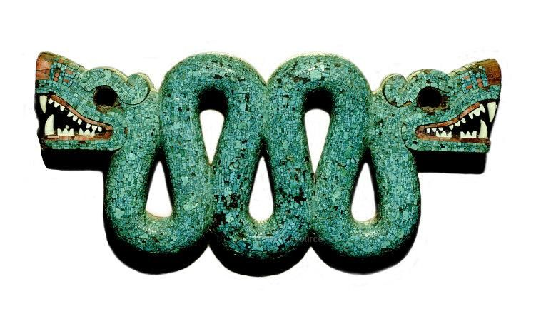 Pectoral de jade con una de las representaciones de Tláloc, Cultura Mexica. British Museum.