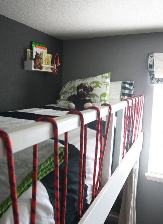 bunk shelf: IKEA Bekvam spice rack $3.99