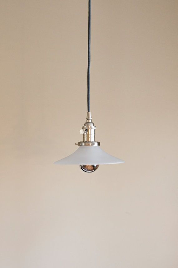 Hanging Pendant Frosted Glass Cone Light Fixture | Frosted Glass, Frosting  And Pendants