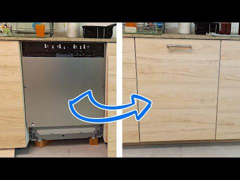 1036 Ikea Install Dishwasher Kitchen Door Porte Lave Vaisselle Cuisine No Ersattare Youtube Dishwasher Installation Kitchen Doors Kitchen Doors Diy