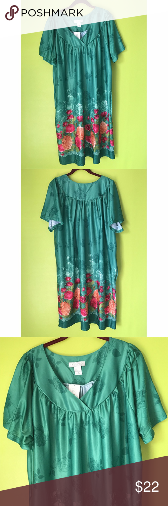 Lati Fashion Red Floral Green Maxi Dress 3x Maxi Dress Green Fashion Multicolor Maxi Dress [ 1740 x 580 Pixel ]