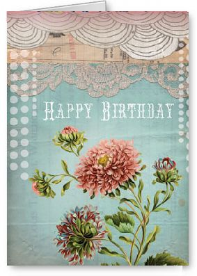 Papaya Art Birthday Lace Blank Greeting Card Buy Cards Online In Australia
