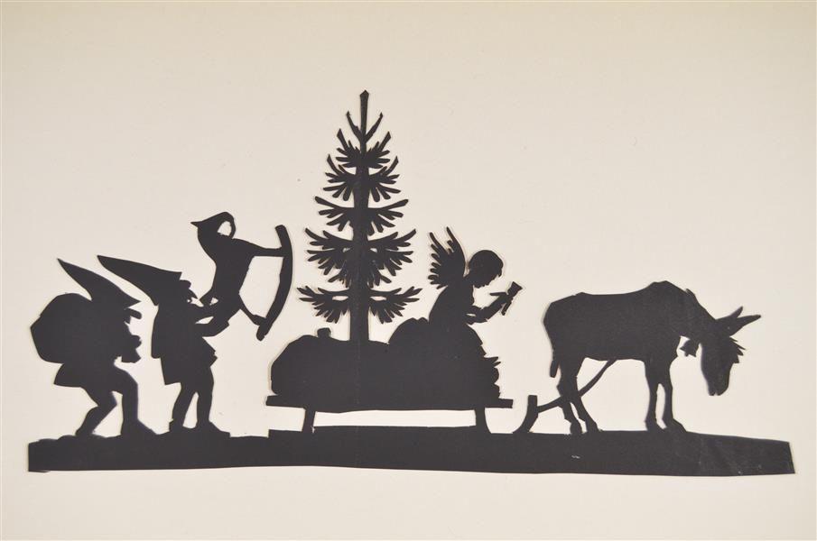 weihnachten im scherenschnitt silhouette. Black Bedroom Furniture Sets. Home Design Ideas