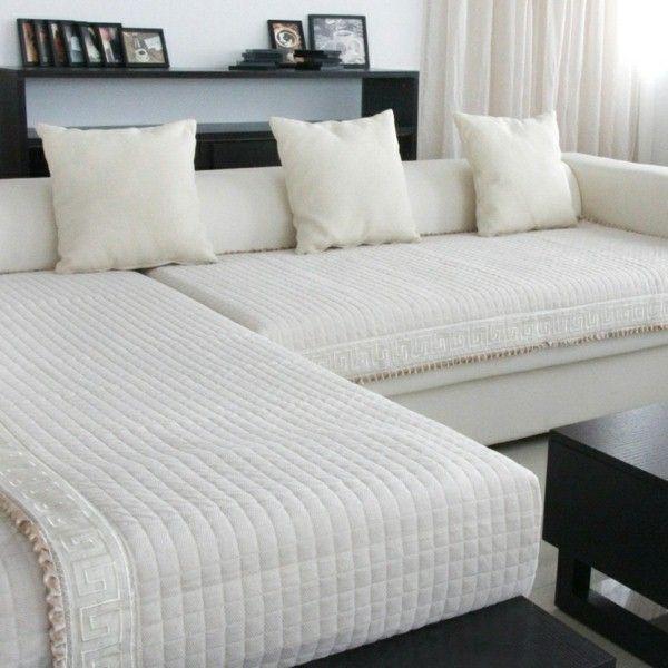 Ikea housses de canap s pour canap d 39 angle en blanc housse for Housse pour canape d angle