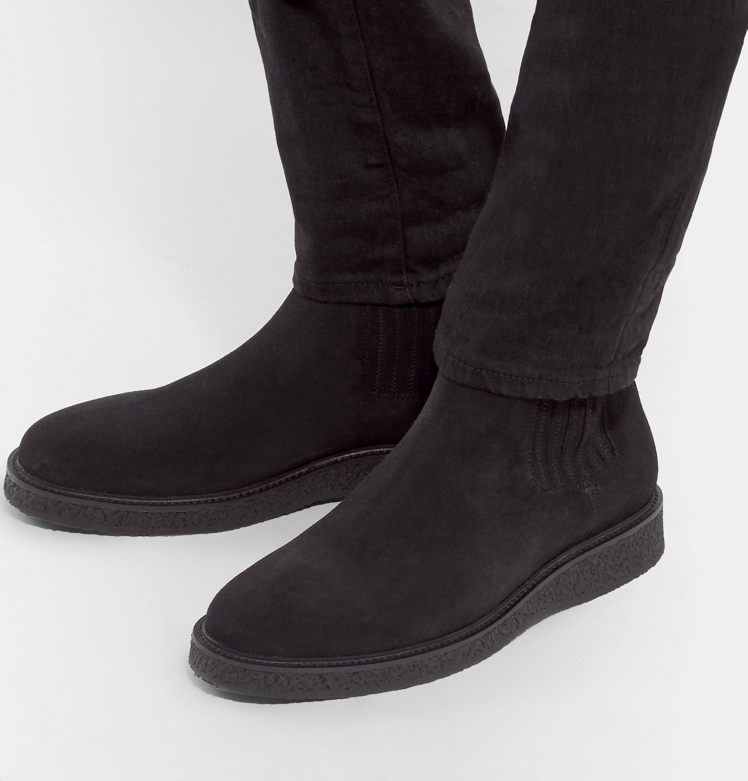 cd6cff7c601 SAINT LAURENT Hugo Suede Chelsea | Apparel aesthetic | Mens designer ...