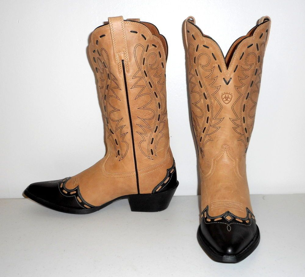 Womens Ariat Cowboy Boots Heritage Western Bucklace Sz 7 B Sales ...