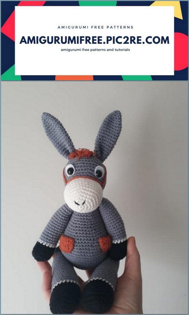 PATTERN - Donkey (Amigurumi Crochet) | Amigurumi patrones gratis ... | 1280x768