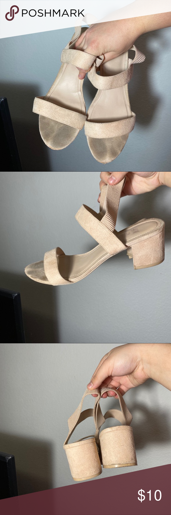 Photo of [ h&m ] beige block heels very used ! but still has a lot of life left :-) looks…