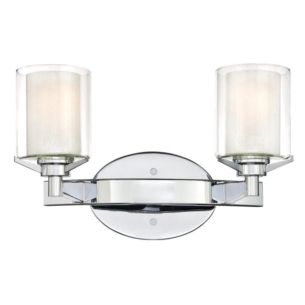 Westinghouse Glenford 2 Light Chrome Wall Mount Bath