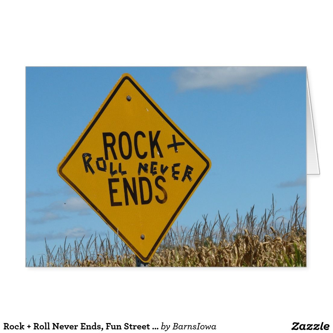 Create Your Own Card Zazzle Com Street Signs Rock And Roll