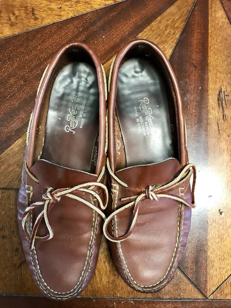 066a0b11c5515d Russell Moccasin Camp Moc Brown 9 D Sid Mashburn Made In USA  fashion   clothing  shoes  accessories  mensshoes  casualshoes (ebay link)