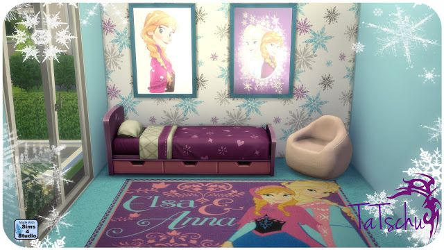 "Sims 4 CC's - The Best: ""Frozen"" Wallpapers, Rugs & Pictures by Tatschu"