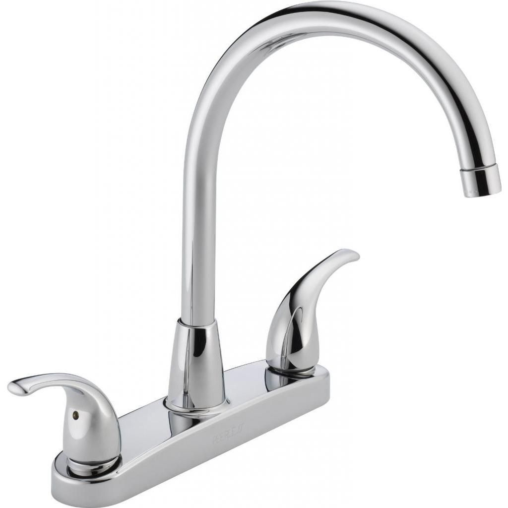 Peerless Choice Two Handle Chrome Kitchen Faucet Overstock Com