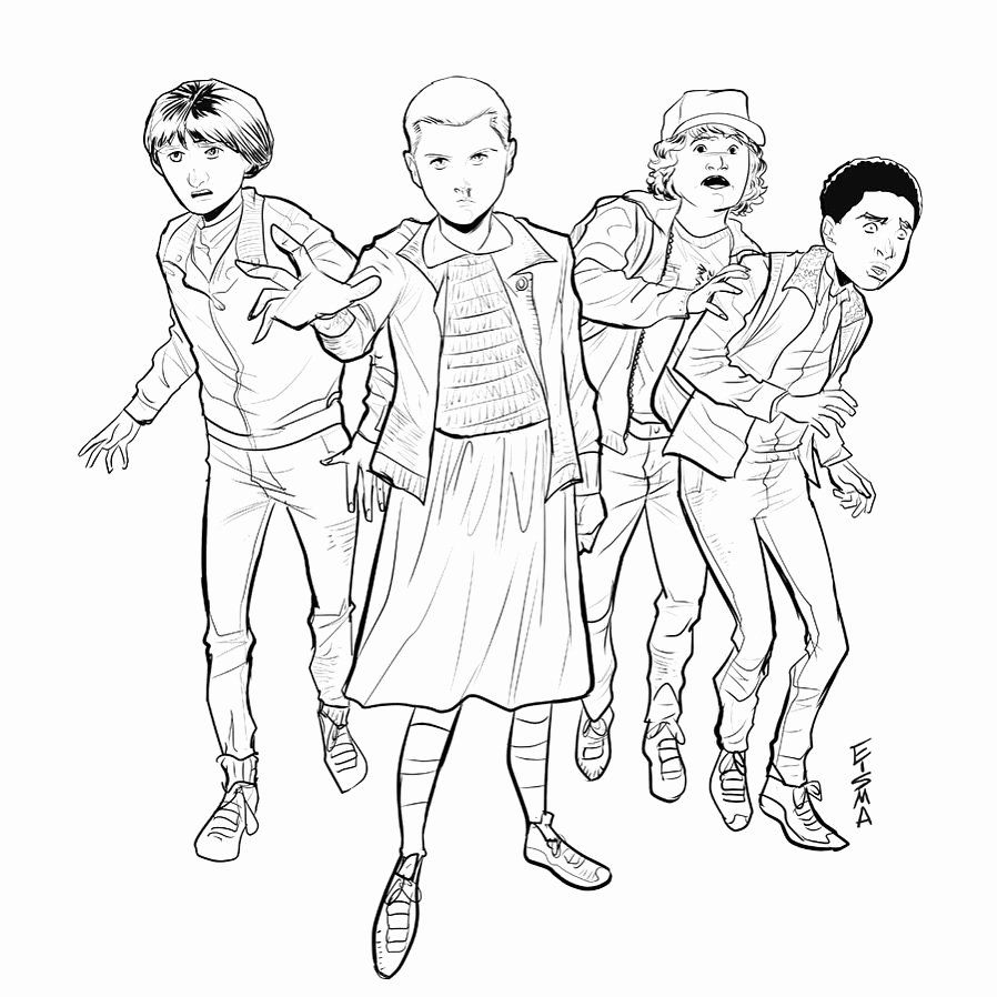 Stranger Things Coloring Book Unique Stranger Things Mike Wheeler Eleven Dustin Henderson Stranger Things Art Stranger Things Artwork Stranger Things Fanart