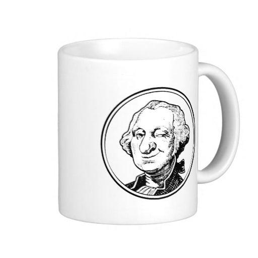George Washington WInks Coffee Mugs