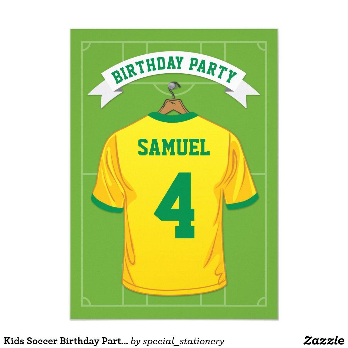 Create your own invitation soccer birthday