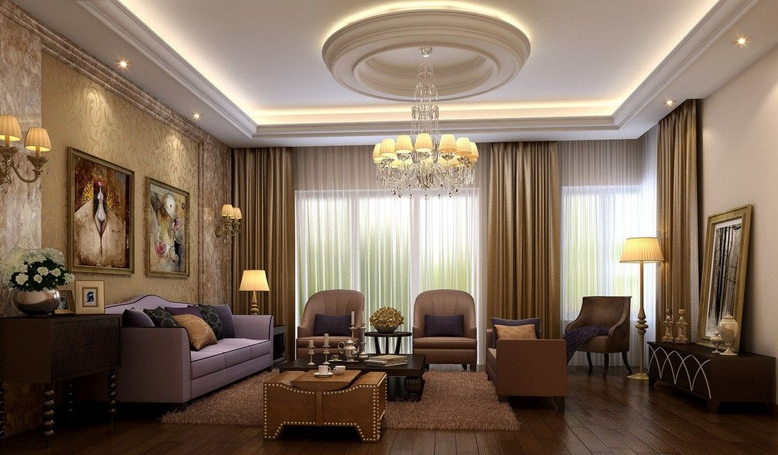 Designs For Luxury Living Room With Classic Furniture Ideas