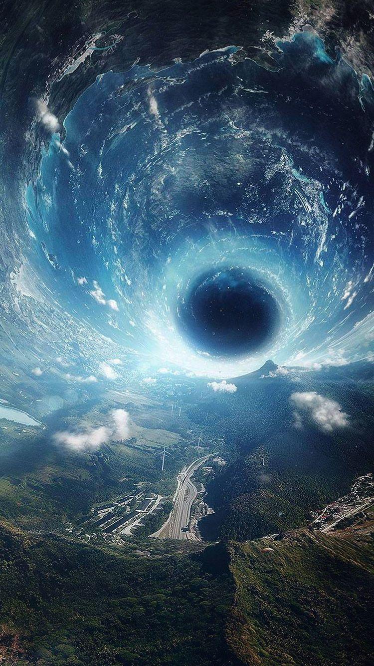 sci fi wallpapers, fantasy scifi illustration black hole desktop hd
