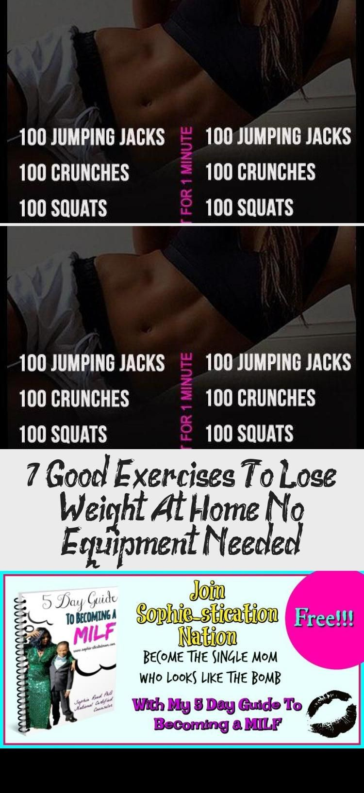 7 Good Exercises To Lose Weight At Home No Equipment Needed - Workout - GYM - Bodybuilding