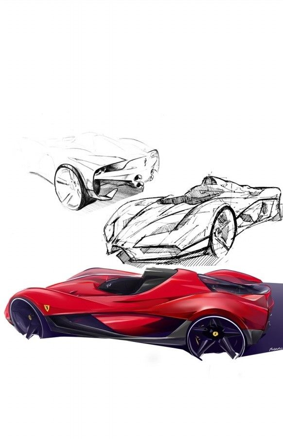 sketches for Ferrari