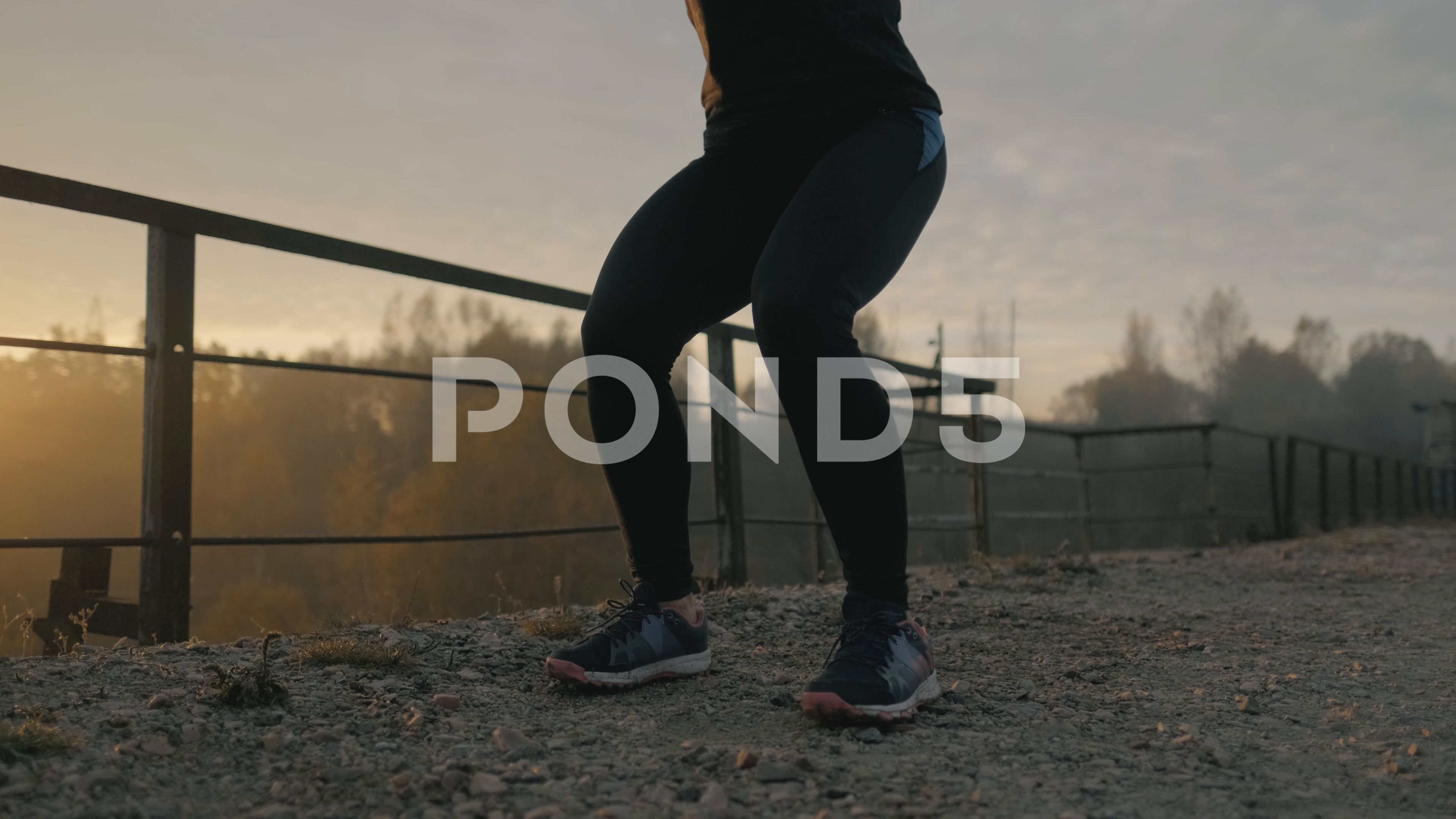 Young muscular fitness woman doing squats exercise in the nature. #AD ,#fitness#woman#Young#muscular