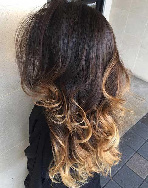 47 Stunning Blonde Highlights For Dark Hair Stayglam Blonde Hair Tips Blonde Highlights Blonde Tips