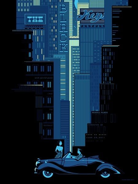 the black keys - gig poster: die band ist nicht so meins, das poster hingegen ist blaue sahne!