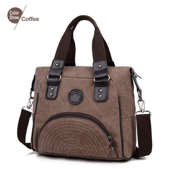 RoyaDong 2016 Women Shoulder Bags Canvas Big Vintage Handbags Shoulder Bag Designer Crossbody Bag For Women