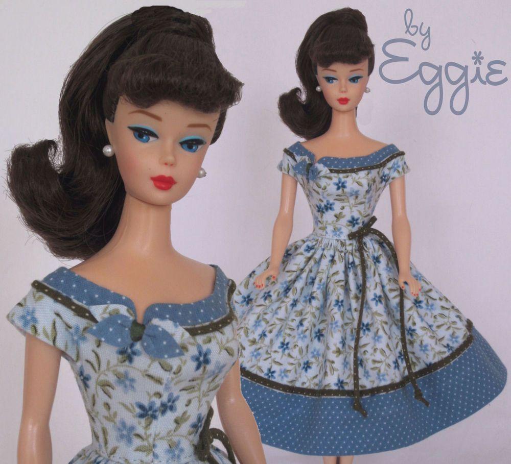 Sweet Blues Vintage Reproduction Repro Barbie Doll Dress Clothes Fashions Doll Dress Barbie Dress Doll Clothes Barbie