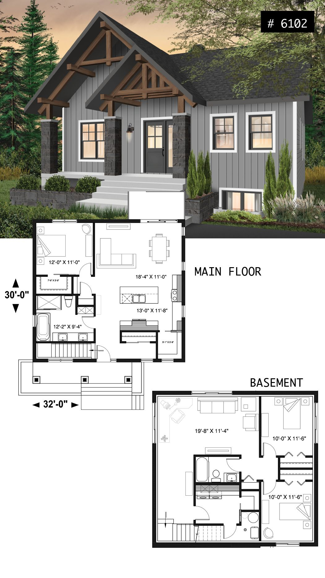 3 Bedroom Houses For Rent In Cleveland Ohio West Side: Small And Affordable Bungalow House Plan With Master On
