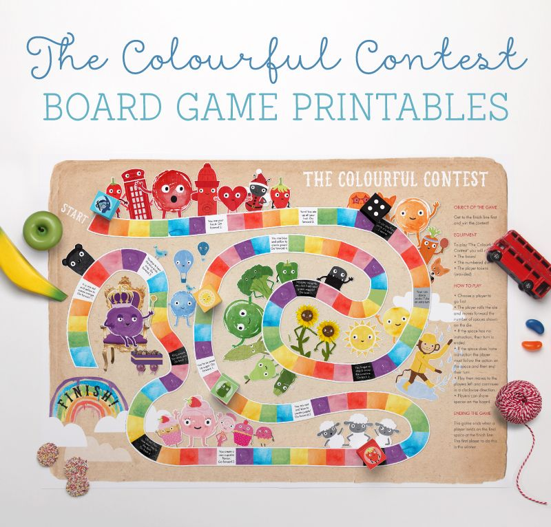Colourful Contest Board Game Printables!