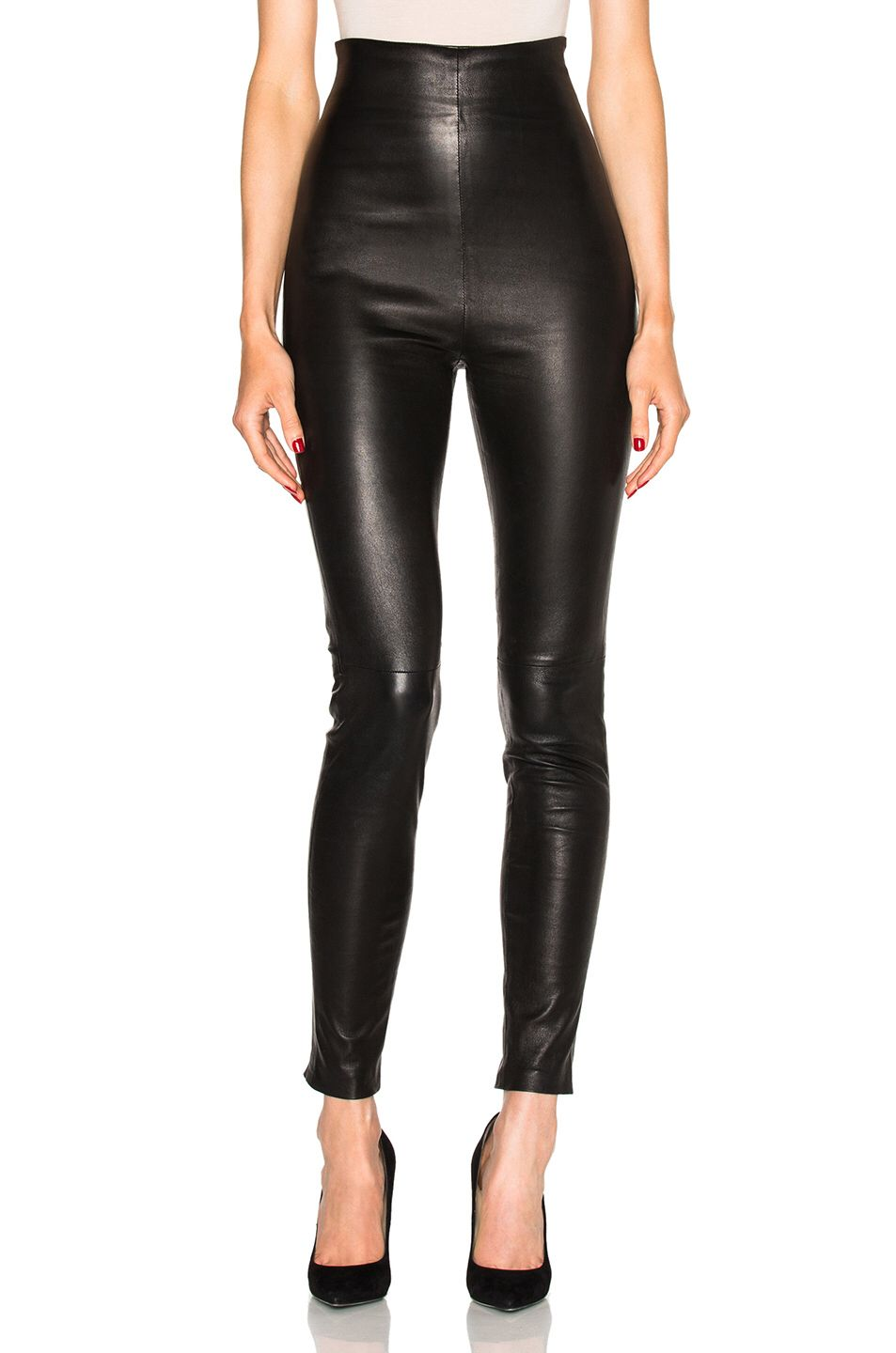 ThePerfext FWRD Exclusive Jessica High Waisted Leather Leggings
