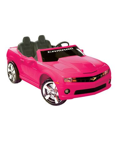 Take A Look At This Pink Camaro Ride On By Kid Motorz On Zulily Today Pink Camaro Chevrolet Camaro Battery Powered Car