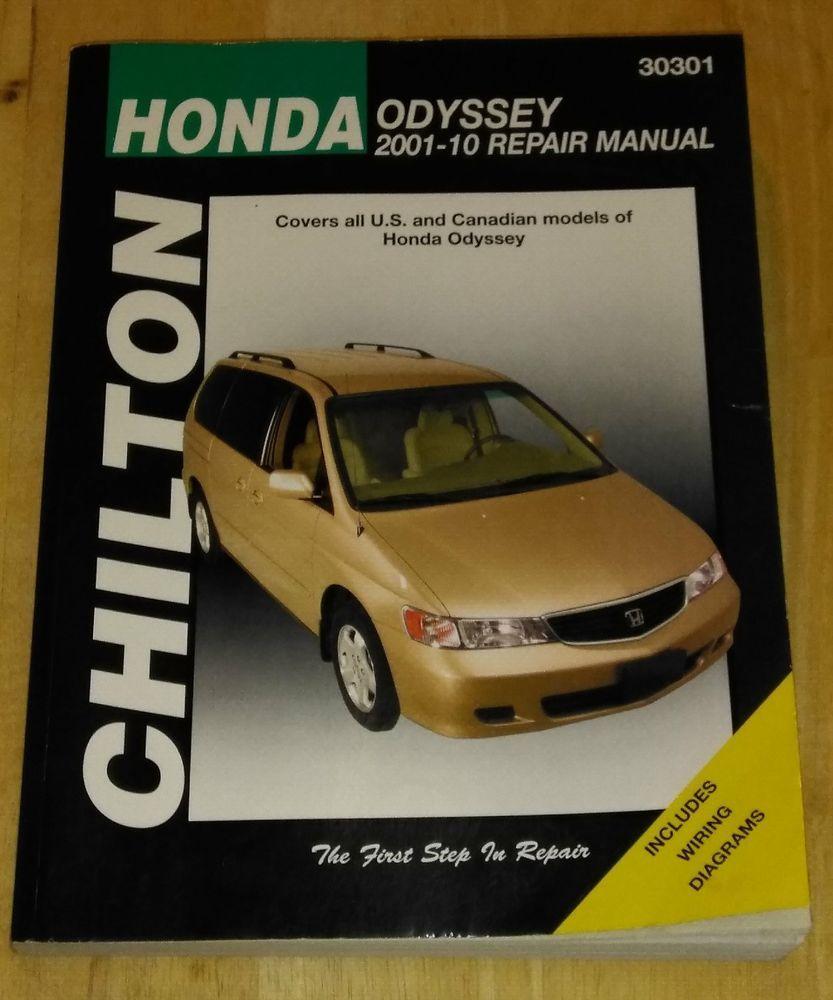 Chilton Honda Odyssey 2001-10 Repair Manual 30301 Paper Back 2012