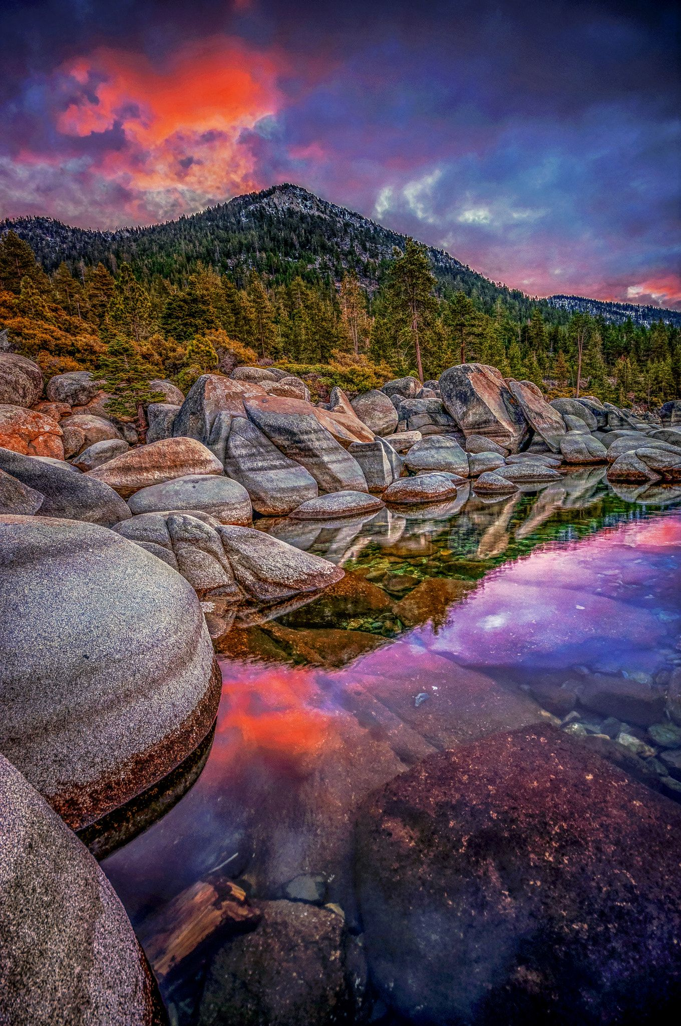 Temperate Dawn Lake Tahoe At Sunrise By Dustin Montgomery