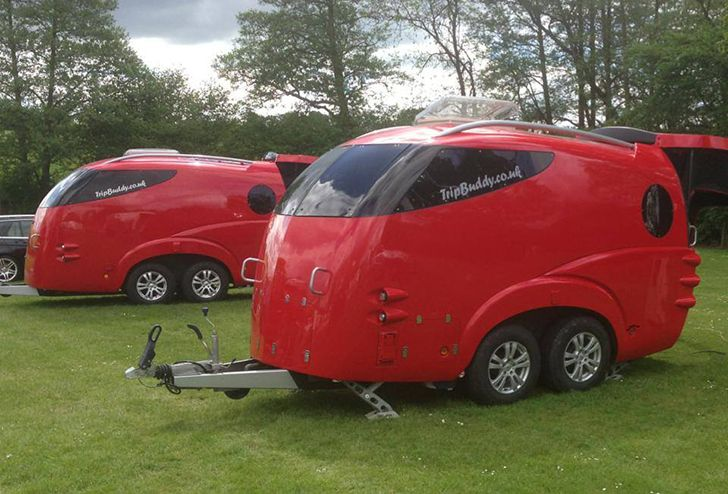 Futuristic tripbuddy caravan big on curves and for Handicap mobile homes for sale