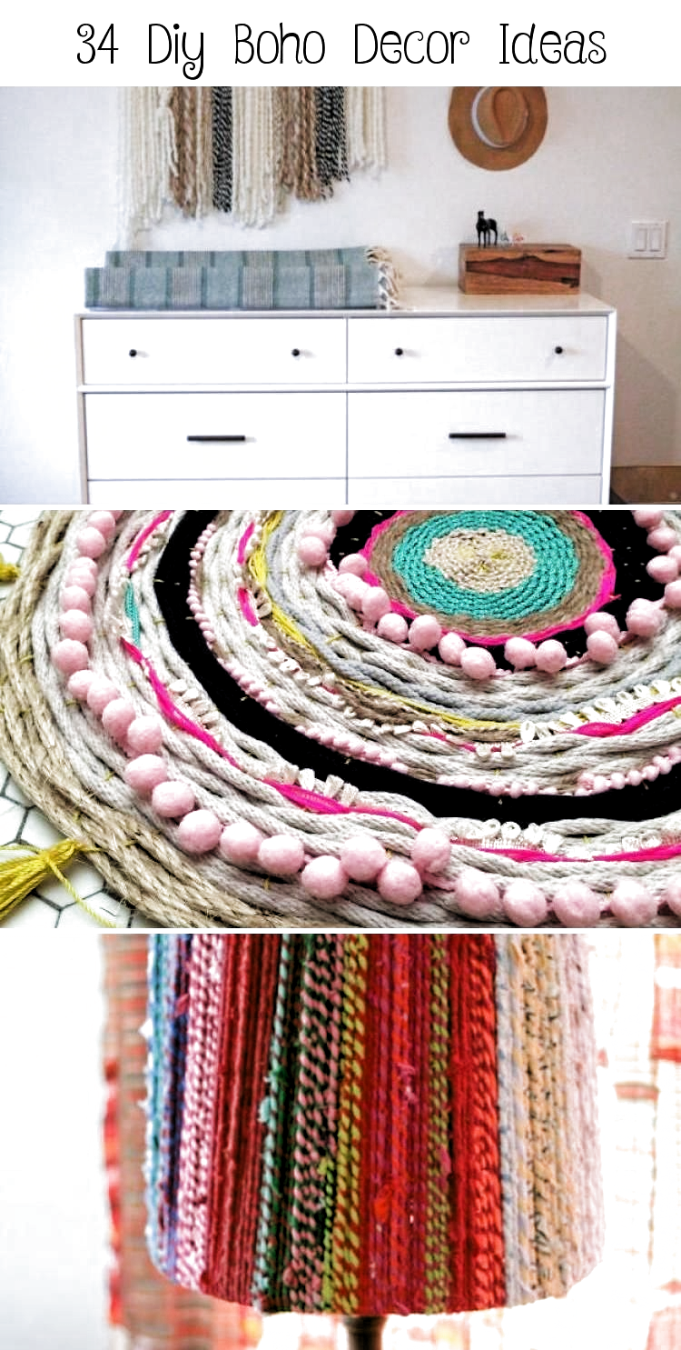 34 Diy Boho Decor Ideas - Decor -  DIY Boho Decor Ideas – DIY Pom Pom Basket – DIY Bedroom Ideas – Cheap Hippie Crafts and Bohemian Wall Art – Easy Upcycling Projects for Living Room, Bathroom, Kitchen #boho #diy #diydecor #bohodecorationHeart  The Effective Pictures We Offer You About home decor ideas for cheap vintage  A quality picture can tell you many things. You can find the most beautiful pictures that can be presented to you about  home decor ideas for cheap signs  in this account. When