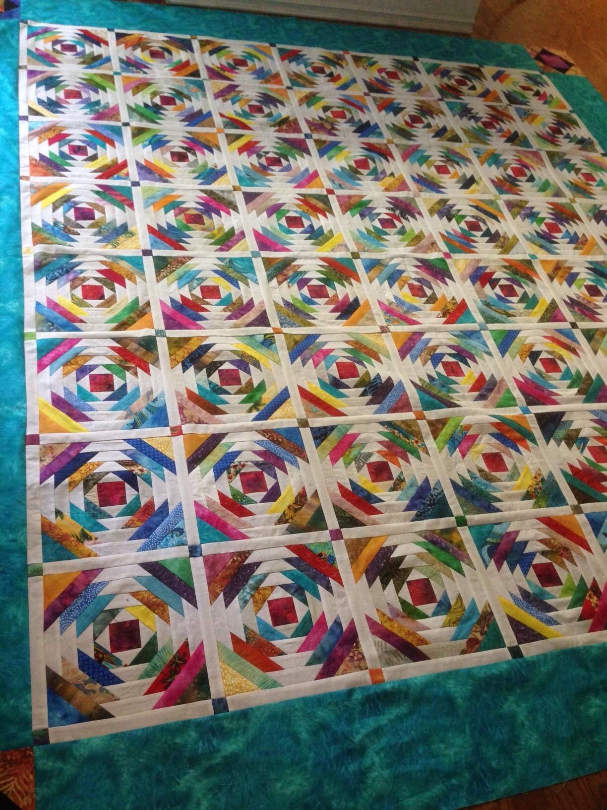 Pineapple quilt with sashing made with creative grids ruler. I ... : creative quilts - Adamdwight.com