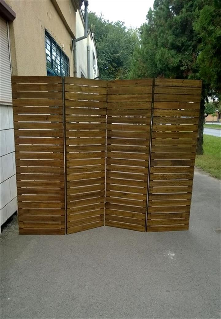 Upcycled Pallet Room Divider Pallet Room Wood Room Divider