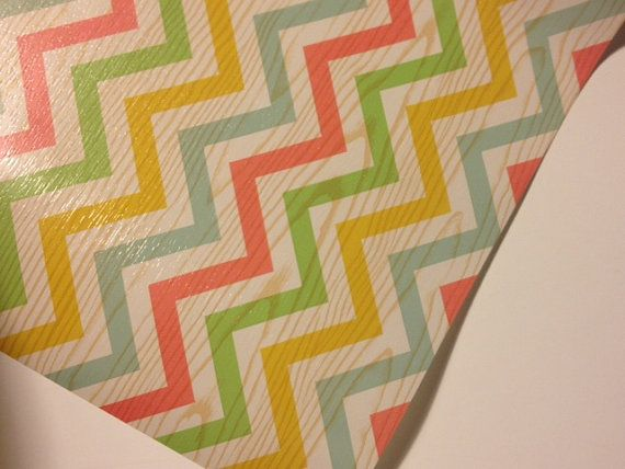 Spring Chevron Print  Wrapping Paper 30 inches x  12 feet