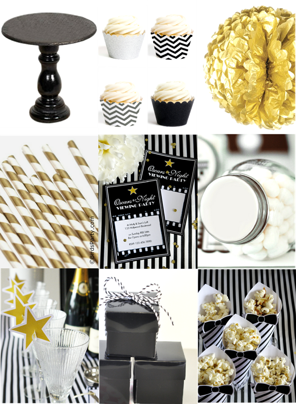 Paint My Party Black White Silver And Gold Oscars Inspired