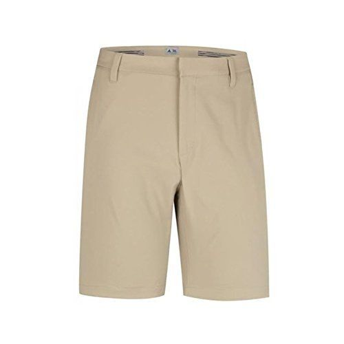 adidas Golf Mens Climalite 3Stripes Shorts Khaki 34 -- Learn more by visiting the image link.